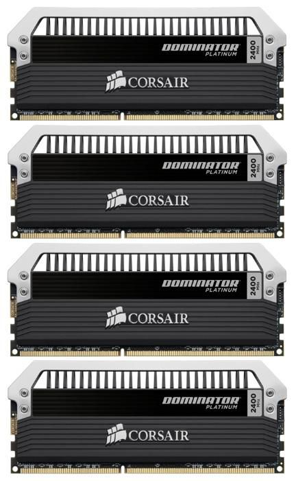 Модуль памяти CORSAIR DOMINATOR PLATINUM CMD16GX3M4A2400C10 DDR3 -  4x 4Гб 2400, DIMM,  Ret