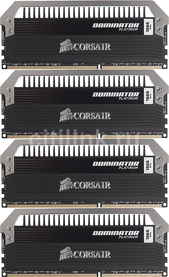 Модуль памяти CORSAIR DOMINATOR PLATINUM CMD32GX3M4A1866C9 DDR3 -  4x 8Гб 1866, DIMM,  Ret