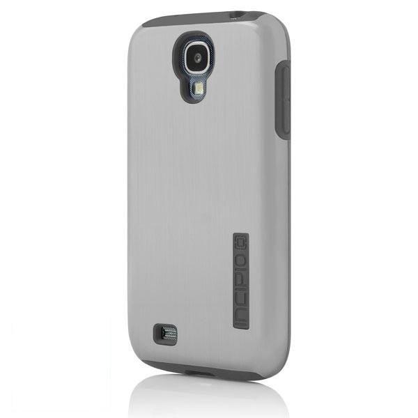 Чехол (клип-кейс) INCIPIO DualPro Shine (SA-380), для Samsung Galaxy S4, серебристый