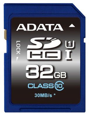 Карта памяти SDHC A-DATA 32 ГБ, Class 10, ASDH32GUICL10-R,  1 шт.
