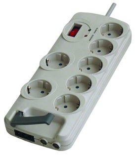 Сетевой фильтр DIGITEX DCAPS-MG1-1.8CB, 1.8м, белый