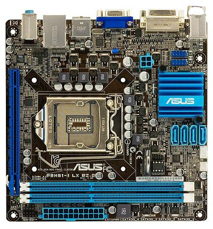 Материнская плата Asus P8H61-I R2.0 Soc-1155 iH61 DDR3 mini-ITX AC`97 8ch GbLAN SATA2 VGA+DVI+HDMI B