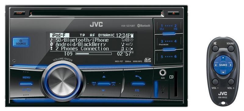 Автомагнитола JVC KW-SD70BTEY,  USB,  SDHC
