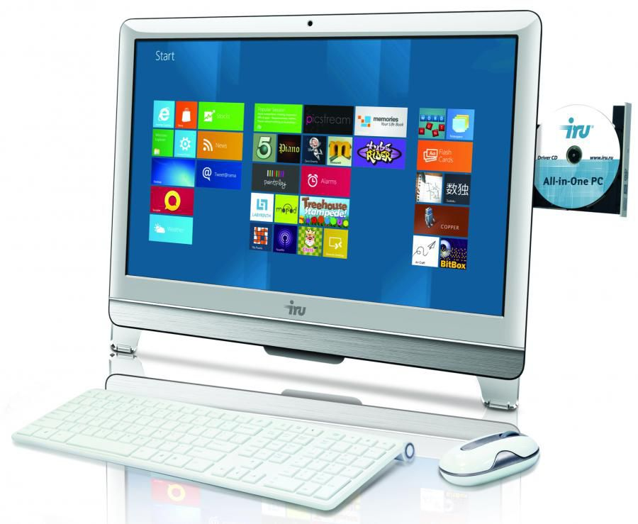 Моноблок IRU AIO 308, Intel Core i3 3220, 4Гб, 500Гб, Intel HD Graphics 2500, DVD-RW, Free DOS, белый