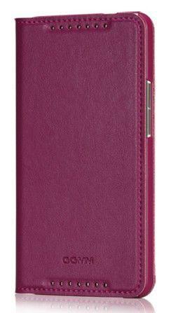 Чехол (флип-кейс) GGMM Kiss-H1, для HTC One, фиолетовый [htc02503]