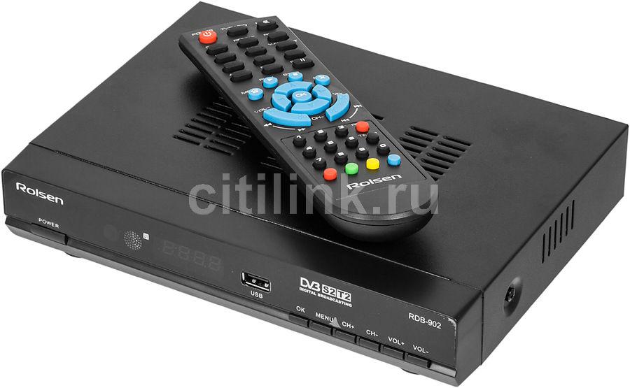 Ресивер DVB-T2/S2 ROLSEN RDB-902,  черный [1-rldb-rdb-902]