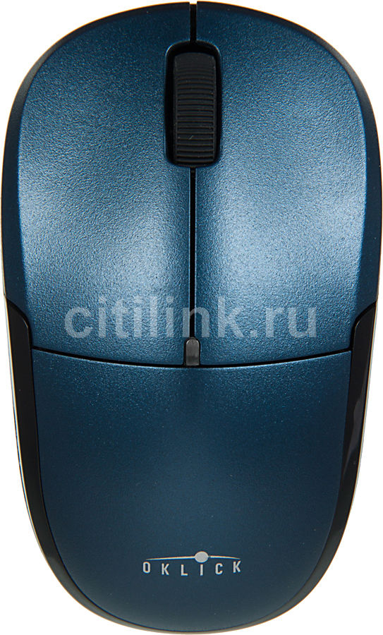 Мышь OKLICK 575SW оптическая беспроводная USB, синий и черный