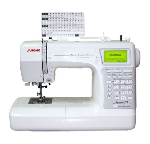 Швейная машина JANOME Memory Craft 5200 HC белый