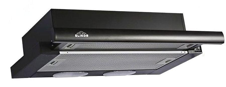 Вытяжка встраиваемая Elikor Интегра 60П-400-В2Л черный управление: кнопочное (1 мотор) [кв ii м-400-60-260]
