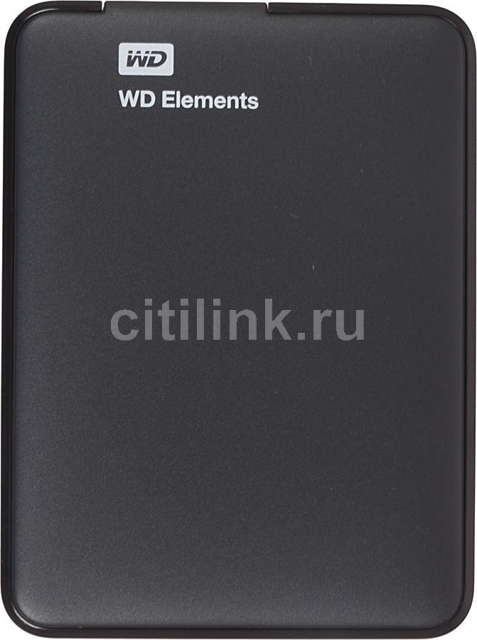 Внешний жесткий диск WD Elements Portable WDBUZG0010BBK-EESN, 1Тб, черный