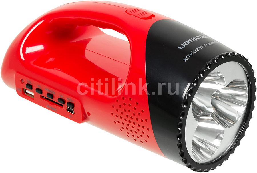 Аудиомагнитола ROLSEN RBM511RD,  красный и черный
