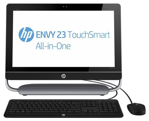Моноблок HP ENVY 23-d201er, Intel Core i3 3240, 4Гб, 1000Гб, Intel HD Graphics 2500, DVD-RW, Windows 8, черный и серый [e3h60ea]