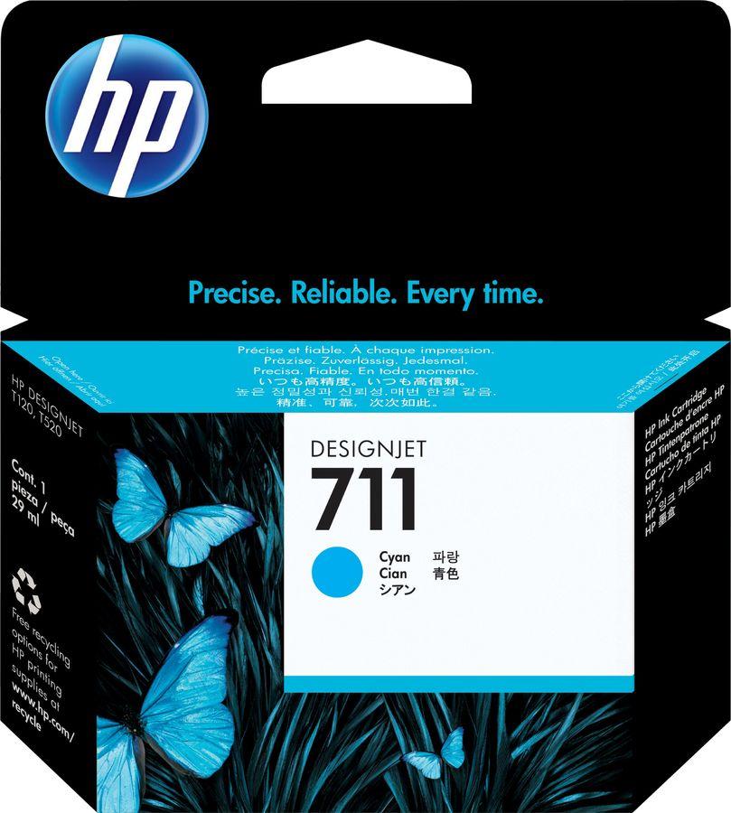Картридж HP №711 голубой [cz130a]