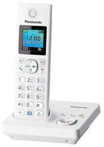 Радиотелефон PANASONIC KX-TG7861RUW,  белый
