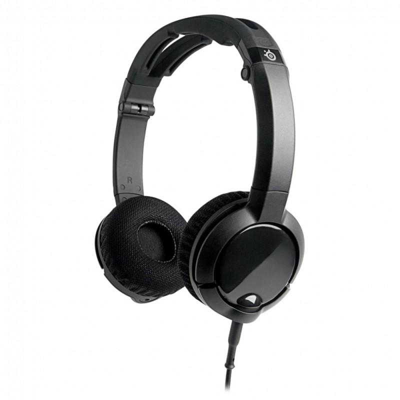 Наушники с микрофоном STEELSERIES Flux 61278,  накладные, черный
