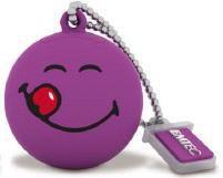 Флешка USB EMTEC Smiley Yum Yum 8Гб, USB2.0, пурпурный и рисунок [ecmmd8gsw101]