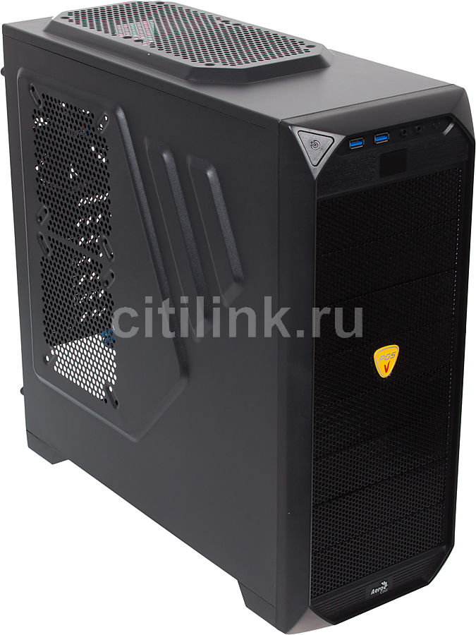 Корпус ATX AEROCOOL Vs-92 Black Edition, Midi-Tower, без БП,  черный