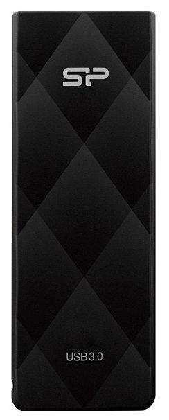 Флешка USB SILICON POWER Blaze B20 16Гб, USB3.0, черный [sp016gbuf3b20v1k]