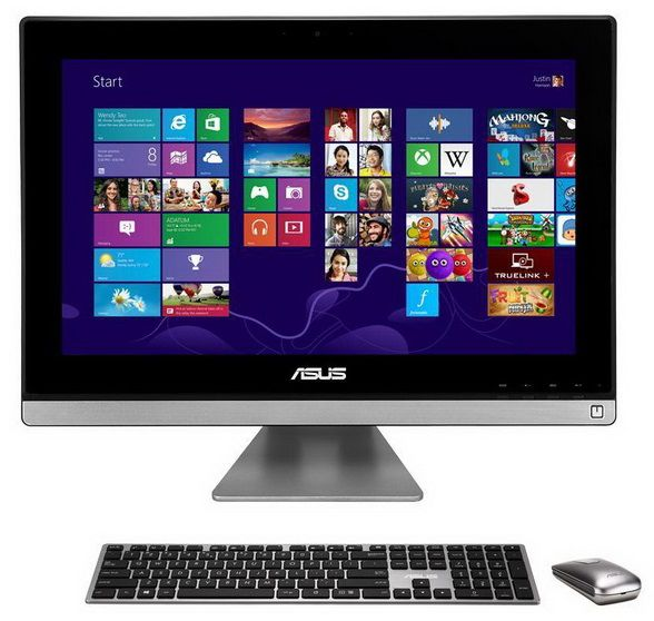 Моноблок ASUS ET2311INTH, Intel Core i5 4430S, 6Гб, 1000Гб, nVIDIA GeForce GT740M - 2048 Мб, DVD-RW, Windows 8, черный и серебристый [90pt00l1-m00810]