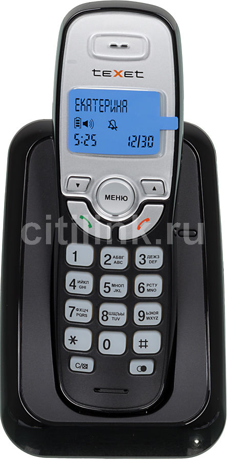 Радиотелефон TEXET TX-D6905A,  черный [tx-d6905a bl]