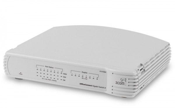 Коммутатор 3COM OfficeConnect Gigabit 8-port (3C1670800B-ME), 3C1670800B-ME