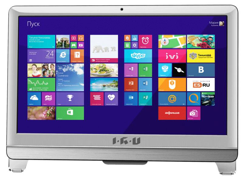 Моноблок IRU 701, Intel Core i7 3770, 8Гб, 1000Гб, Intel HD Graphics, DVD-RW, Windows 7 Professional, белый