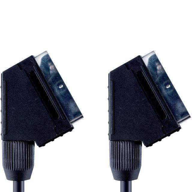 Кабель аудио-видео BANDRIDGE VVL7002,  SCART (m)  -  SCART (m) ,  2м, черный