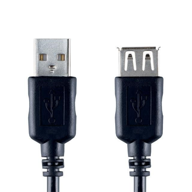 Кабель-удлинитель USB2.0 BANDRIDGE VCL4302,  USB A(m) -  USB A(f),  2м,  черный