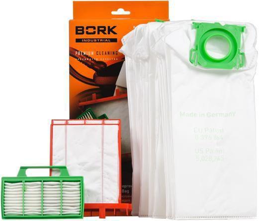 Пылесборники BORK V7B1,  8 шт., для пылесосов Bork V700, V701, V702, V703,  два фильтра