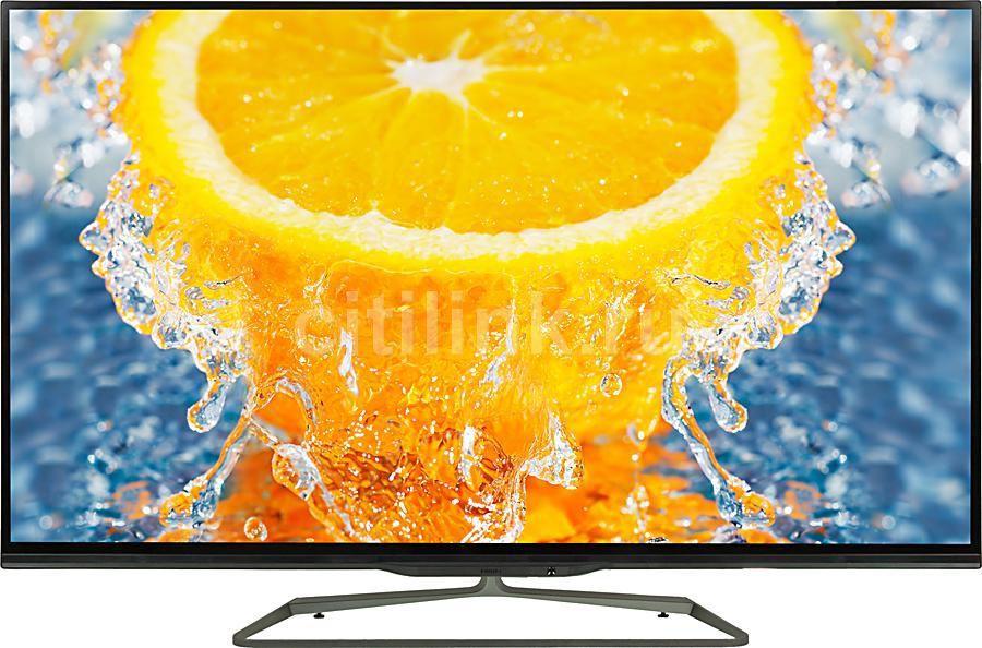 "LED телевизор PHILIPS 55PFL7008S/60  ""R"", 55"", 3D,  FULL HD (1080p),  серебристый/ черный"