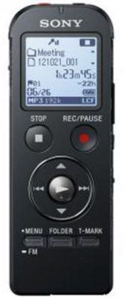 Диктофон SONY ICDUX534FB.CE7 4 Gb,  черный