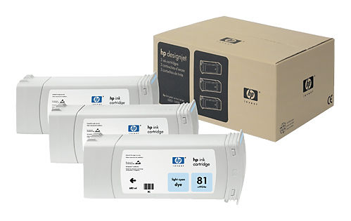 Тройная упаковка картриджей HP C5070A светло-голубой