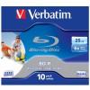 Оптический диск BD-R VERBATIM 25Гб 6x, 1шт., 43713/43712, jewel case, printable вид 1