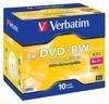 Оптический диск DVD+RW VERBATIM 4.7Гб 8x, 10шт., 43527, jewel case вид 1