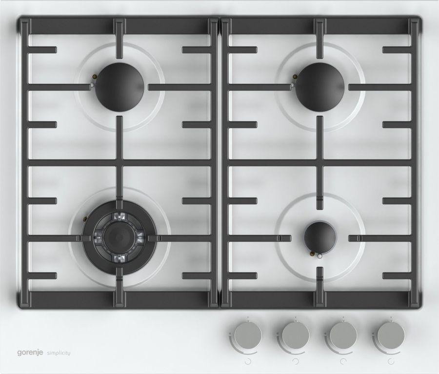 Варочная панель GORENJE Simplicity G6SY2W,  независимая,  белый