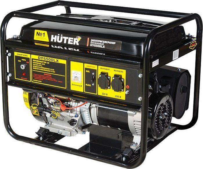 Бензиновый генератор HUTER DY6500LX,  220 В,  5.5кВт