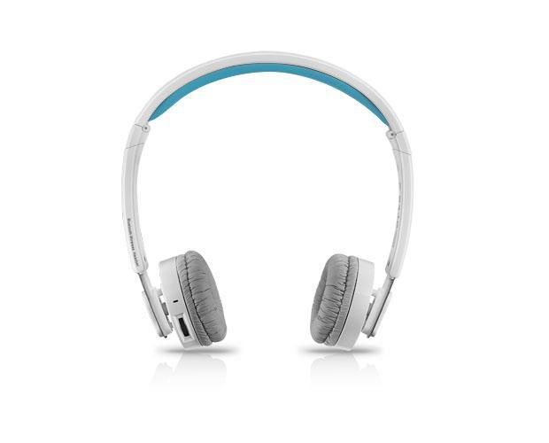 Наушники с микрофоном RAPOO H6080,  накладные, bluetooth,  голубой  / белый [12066]