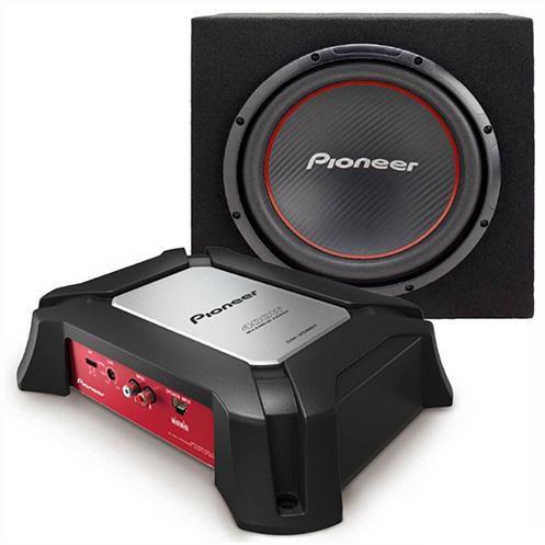 Сабвуфер автомобильный PIONEER GXT-3504B (TS-W304R+GM-3500T),  пассивный,  1300Вт [gxt-3504b-set-ru]