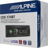 Автомагнитола ALPINE CDE-174BT,  USB вид 6