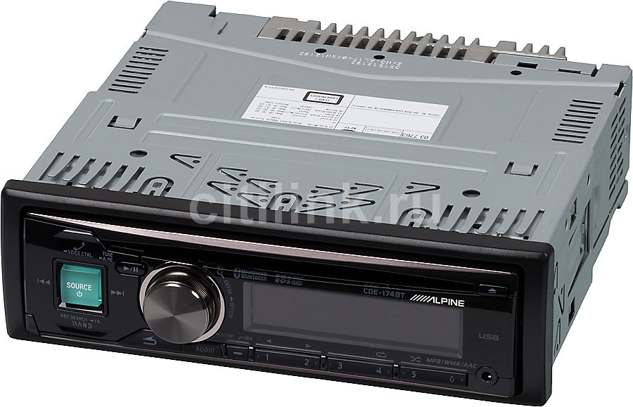 Автомагнитола ALPINE CDE-174BT,  USB