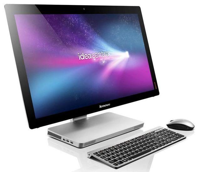 Моноблок LENOVO IdeaCentre A720, Intel Core i5 3210M, 8Гб, 1000Гб, nVIDIA GeForce GT630M - 2048 Мб, DVD-RW, Windows 8, черный и серебристый [57316759]