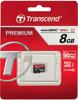 Карта памяти microSDHC UHS-I TRANSCEND Premium 8 ГБ, 60 МБ/с, 400X, Class 10, TS8GUSDCU1,  1 шт. вид 1
