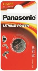 Батарея PANASONIC Lithium Power CR2016EL,  1 шт. CR2016,  90мAч