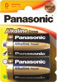 Батарейка PANASONIC Alkaline Power LR20APB/2BP LR20,  2 шт. D