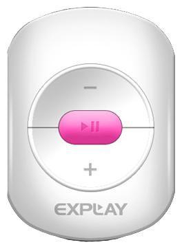 MP3 плеер EXPLAY A1 flash 4Гб белый/розовый