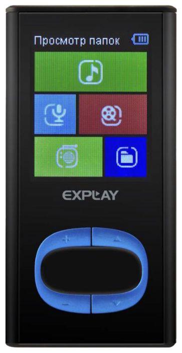 MP3 плеер EXPLAY C45 flash 4Гб черный/голубой