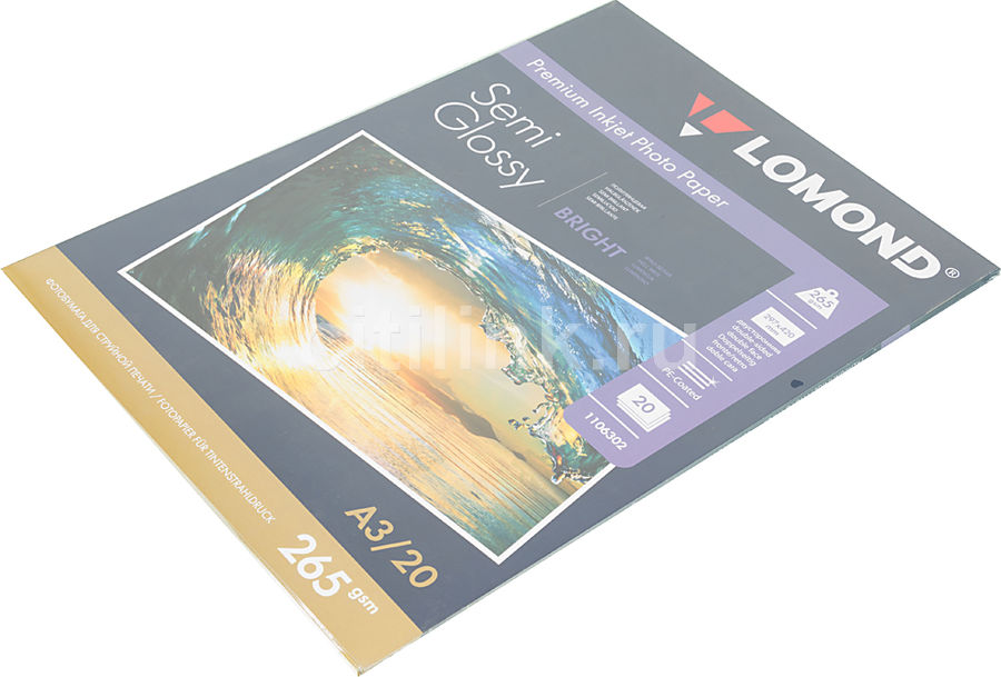 Фотобумага Lomond 1106302 A3/265г/м2/20л./белый полуглянцевое/полуглянцевое для струйной печати