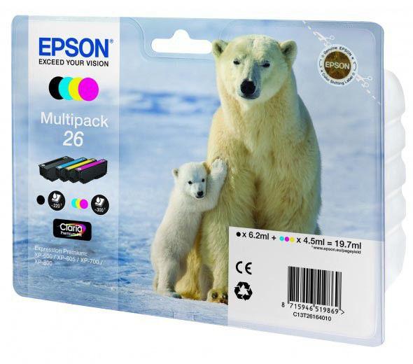 Набор картриджей EPSON T2616 4 цвета [c13t26164010]