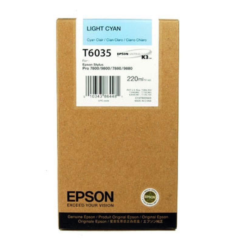 Картридж EPSON T6035 светло-голубой [c13t603500]
