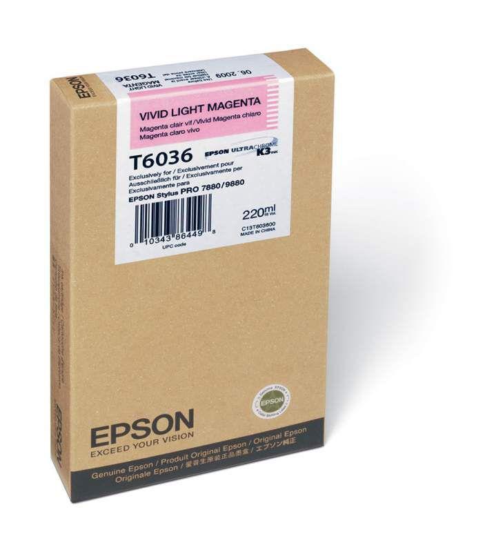 Картридж EPSON T6036 светло-пурпурный [c13t603600]
